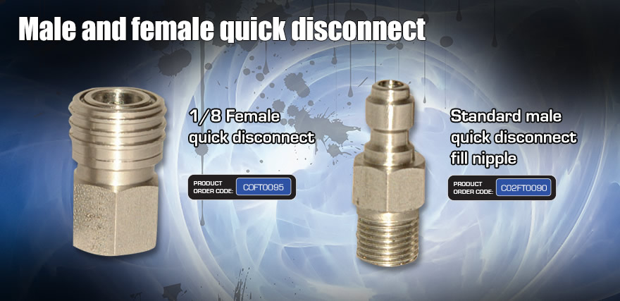 <Male and female quick disconnect>